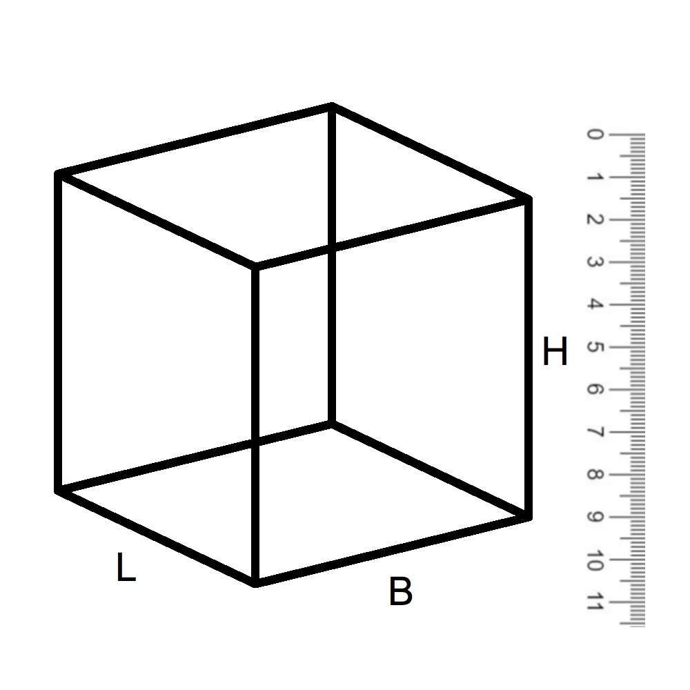 Vierkant maatwerk corten XL