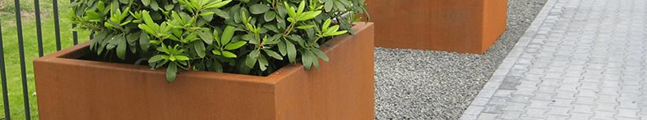 Vierkante maatwerk plantenbakken