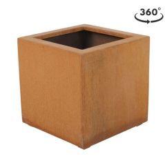 cortenstaal plantenbak 40x40x40 cm. maroon