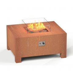 Vuurtafel Brann 100x80x50 cm cortenstaal